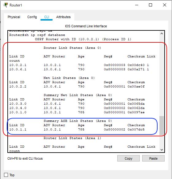 OSPF簡単構成図Type1 から5までR1右側