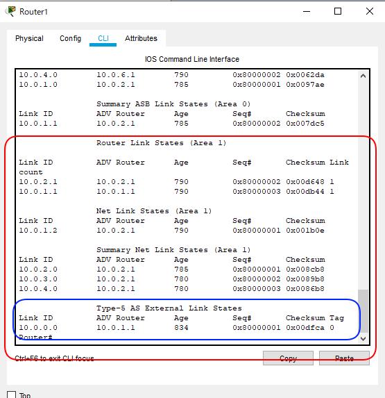 OSPF簡単構成図Type1 から5までR1左側
