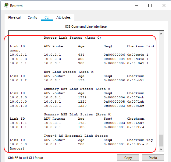 OSPF簡単構成図Type1 から5まで追加構成R4