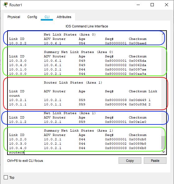 OSPF簡単構成図Type1 から3までR1