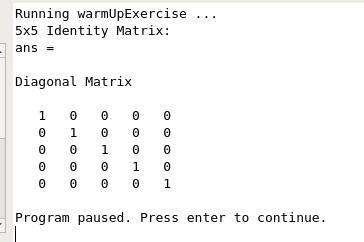 WarmupExercize実行結果