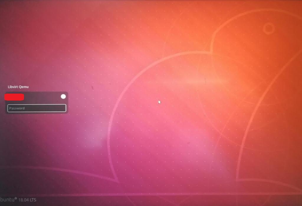 Ubuntuログイン画面