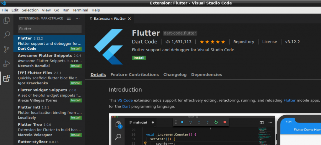 FlutterExtension_VSCode