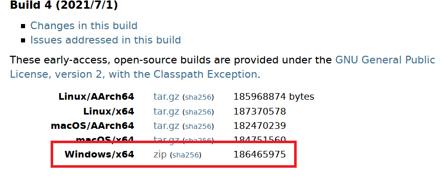 OpenJDK1.8ダウンロード